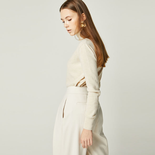 LAMSWOOL TURTLENECK KNIT Ivory